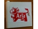 Part No: 3195pb05  Name: Door 1 x 5 x 4 Left with Arla Dairy Logo Pattern (Sticker) - Set 1581-2
