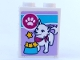 Part No: 3245cpb100  Name: Brick 1 x 2 x 2 with Inside Stud Holder with Dog and Stars in Dog Bowl Pattern (Sticker) - Set 41323