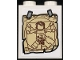 Part No: 3245cpb170  Name: Brick 1 x 2 x 2 with Inside Stud Holder with Picture of Vitruvian Minifigure with Fig Leaf and Tape Pattern (Sticker) - Set  70657