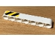 Part No: 32524pb041L  Name: Technic, Liftarm Thick 1 x 7 with Black and Yellow Danger Stripes Pattern Model Left Side (Sticker) - Set 42078