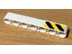 Part No: 32524pb041R  Name: Technic, Liftarm Thick 1 x 7 with Black and Yellow Danger Stripes Pattern Model Right Side (Sticker) - Set 42078