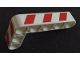 Part No: 32526pb015L  Name: Technic, Liftarm, Modified Bent Thick L-Shape 3 x 5 with Red and White Danger Stripes Pattern Model Left Side (Stickers) - Set 42042