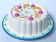 Part No: 33013pb03  Name: Cake with Dark Pink Cherries and Oranges, Medium Blue Rim Pattern