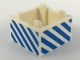 Part No: 35700pb02  Name: Container, Box 2 x 2 x 1 - Top Opening with Medium Blue Diagonal Stripes Pattern