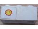 Part No: 3622pb044L  Name: Brick 1 x 3 with Shell Logo Small Pattern on Left (Sticker) - Set 6371