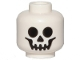 Part No: 3626cpb0001  Name: Minifigure, Head Skull Standard Pattern - Hollow Stud
