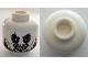 Part No: 3626cpb0557  Name: Minifigure, Head Skull PotC Hector Barbossa Ragged Brown Beard, Teeth Pattern - Hollow Stud