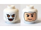 Part No: 3626cpb1376  Name: Minifigure, Head Dual Sided Alien with Yellow Eyes, Fangs, Mouth Open (Vampire) / Balaclava, Light Nougat Face Pattern - Hollow Stud