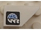 Part No: 3665pb004L  Name: Slope, Inverted 45 2 x 1 with World Racers Logo on Black Background Pattern Model Left (Sticker) - Sets 8897 / 8898
