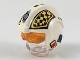Part No: 37630c01pb02  Name: Minifigure, Headgear Helmet SW Rebel Pilot with Trans-Orange Visor and Yellow and Black Checkered Pattern (Biggs)