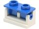 Part No: 3937c03  Name: Hinge Brick 1 x 2 Base with Blue Hinge Brick 1 x 2 Top (3937 / 3938)