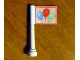 Part No: 3957pb01  Name: Antenna 1 x 4 with Flag with Blue, Red and Green Balloons Pattern (Sticker) - Set 3108