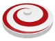 Part No: 3960p03  Name: Dish 4 x 4 Inverted (Radar) with Solid Stud with Spiral Red Pattern