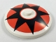 Part No: 3960pb046  Name: Dish 4 x 4 Inverted (Radar) with Solid Stud with Black 8 Point Star on Red Circle Pattern