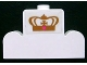Part No: 4088pb03  Name: Brick, Modified 1 x 4 x 2 Center Stud Top with Gold Crown Pattern (Sticker) - Set 7582