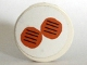 Part No: 4150pb054  Name: Tile, Round 2 x 2 with 2 Hamburgers Pattern (Sticker) - Set 5895