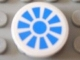 Part No: 4150pb069  Name: Tile, Round 2 x 2 with Blue Propeller Pattern (Sticker) - Set 8118