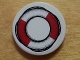 Part No: 4150pb107  Name: Tile, Round 2 x 2 with Red and White Life Preserver on Rope Outline Pattern (Sticker) - Set 8426