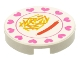 Part No: 4150px32  Name: Tile, Round 2 x 2 with Hearts, Hot Dog, French Fries Pattern
