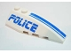 Part No: 41747pb017  Name: Wedge 6 x 2 Right with Police Blue Line Pattern