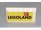 Part No: 4176pb11  Name: Windscreen 2 x 6 x 2 with Legoland on Yellow Background Pattern (Sticker)