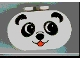 Part No: 4198pb03  Name: Duplo, Brick 2 x 4 x 2 Rounded Ends with Panda Face Type 1 (colored) Pattern
