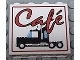 Part No: 4215bpx15  Name: Panel 1 x 4 x 3 - Hollow Studs with Red Café (Cafe) and Black Semi-Truck Pattern