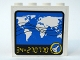 Part No: 4215pb008  Name: Panel 1 x 4 x 3 with World Map Monitor Pattern (Sticker) - Set 6456