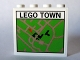 Part No: 4215pb057  Name: Panel 1 x 4 x 3 with Map Street Pattern 6 'LEGO TOWN' (Sticker) - Set 10184