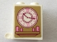 Part No: 4345pb08  Name: Container, Box 2 x 2 x 2 with Vintage Clock Pattern (Sticker) - Set 41068