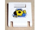 Part No: 4346pb13  Name: Container, Box 2 x 2 x 2 Door with Slot and Yellow Submarine on Blue Triangle Pattern (Sticker)