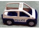 Part No: 4354c01pb01  Name: Duplo Car with 2 Studs on Roof, Dark Blue Base and 'POLICE' Pattern
