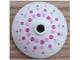 Part No: 43898pb007  Name: Dish 3 x 3 Inverted (Radar) with Bright Pink and Magenta Dots Pattern (41307)