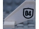 Part No: 44661pb030  Name: Tail Shuttle, Small with Black Number 04 Pattern on Both Sides (Stickers) - Set 60131