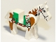 Part No: 4493c01px3  Name: Horse with Green Blanket, Left Side Red Hand Pattern