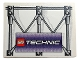 Part No: 4515pb012  Name: Slope 10 6 x 8 with Girders and LEGO TECHNIC Logo Pattern (Sticker) - Set 3403