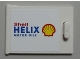 Part No: 4533pb001  Name: Container, Cupboard 2 x 3 x 2 Door with 'Shell HELIX MOTOR OILS' on White Background Pattern (Sticker) - Set 1253
