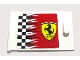 Part No: 4533pb017L  Name: Container, Cupboard 2 x 3 x 2 Door with Checkered Flag and Ferrari Logo Pattern Left (Sticker)