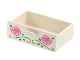 Part No: 4536pb01  Name: Container, Cupboard 2 x 3 x X Drawer with Flower and Vine Pattern