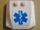 Part No: 45677pb031  Name: Wedge 4 x 4 x 2/3 Triple Curved with EMT Star of Life Pattern (Sticker) - Set 7902