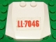 Part No: 45677pb080  Name: Wedge 4 x 4 x 2/3 Triple Curved with Red 'LL-7046' on Transparent Background Pattern (Sticker) - Set 7046
