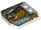 Part No: 45677pb128  Name: Wedge 4 x 4 x 2/3 Triple Curved with Stained Glass Window with Beauty and the Beast Pattern