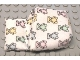 Part No: 45896px1  Name: Belville Cloth Pouch, Baby with Teddy Bears Pattern