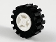 Part No: 4624c02  Name: Wheel & Tire Assembly  8mm D. x 6mm with Black Tire 15mm D. x 6mm Offset Tread Small (4624 / 3641)