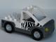 Part No: 47438c01pb01  Name: Duplo Truck Pickup Flatbed with Dark Bluish Gray Base with Zebra Stripes Pattern