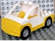 Part No: 47438c02pb01  Name: Duplo Truck Pickup Flatbed with Yellow Base with Lego Logo on Front Pattern