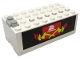Part No: 4760c01pb04  Name: Electric 9V Battery Box Small with Fire Pattern on Both Sides (Stickers) - Set 6480