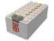 Part No: 4760c01pb08  Name: Electric 9V Battery Box Small with Red '5' Pattern (Sticker) - Set 6440