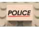 Part No: 4865pb002  Name: Panel 1 x 2 x 1 with 'POLICE' Red Line Pattern