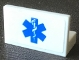 Part No: 4865pb092  Name: Panel 1 x 2 x 1 with Blue EMT Star of Life Pattern (Sticker) - Set 2064